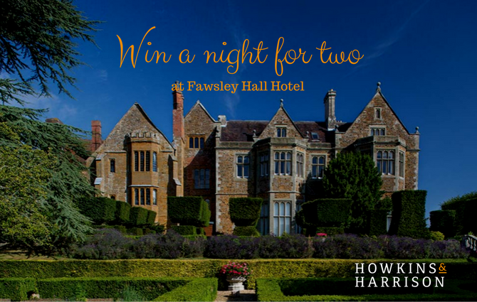 Win a night for two at Fawsley Hall Hotel